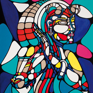Peinture acrylique sur toile 50x60cm Vendu