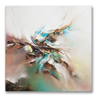 Peinture à l'huile sur toile 50x50cm *