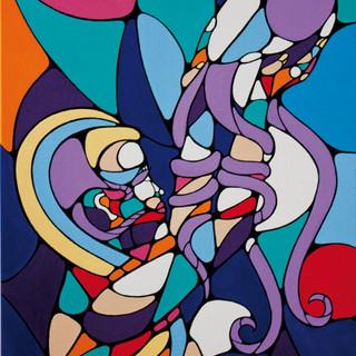 Peinture acrylique sur toile 60x80cm