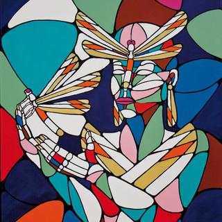 Peinture acrylique sur toile 50x60cm