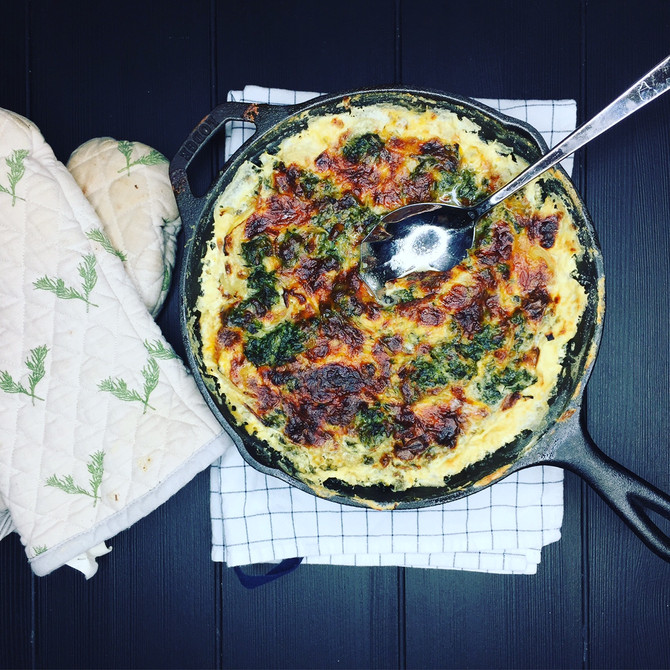 Recipe: Spinach & Potato Gratin