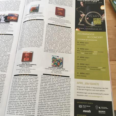 Chronique dans le mag national suisse Jazz'n'More