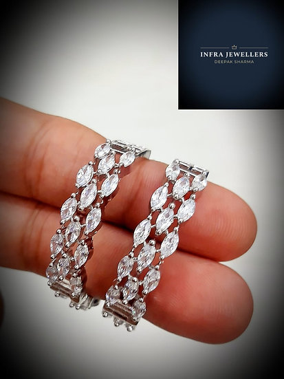 Indian CZ Earrings Baali Collection Fashionable Jewelry
