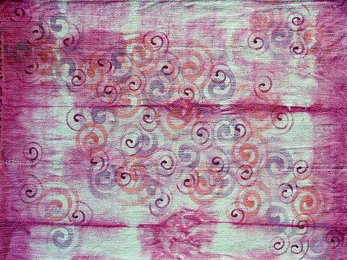 Tovaglietta Americana di Canapa tinta e dipinta a mano
