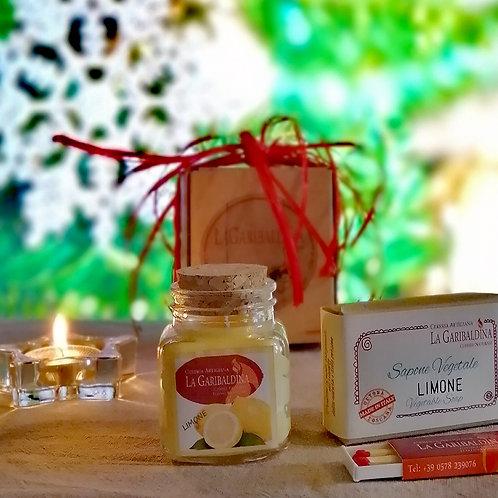 Gift Box Limone - Candela di Soia+Sapone Vegetale