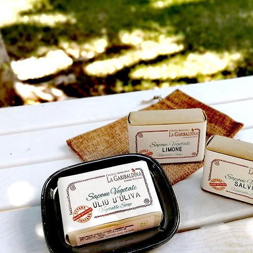 Porta sapone rettangolare in ceramica+Saponetta