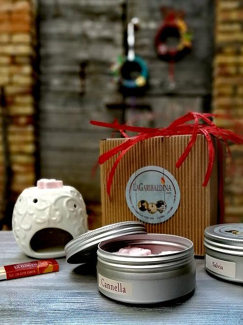 Gift Box Modello 1 - Bruciatore+Cialde di Soia