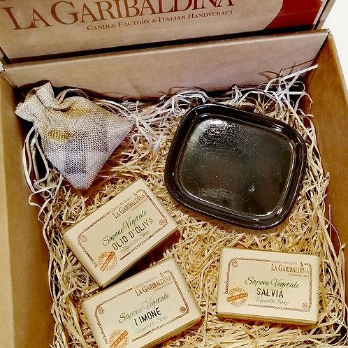 Gift Box - Confezione regalo Saponette e Porta sapone