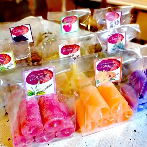 Mini - Candeline profumate in confezione da 5