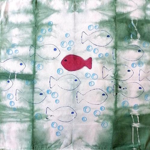Set 2 Fodere in Cotone 50x50 tinte e dipinte a mano