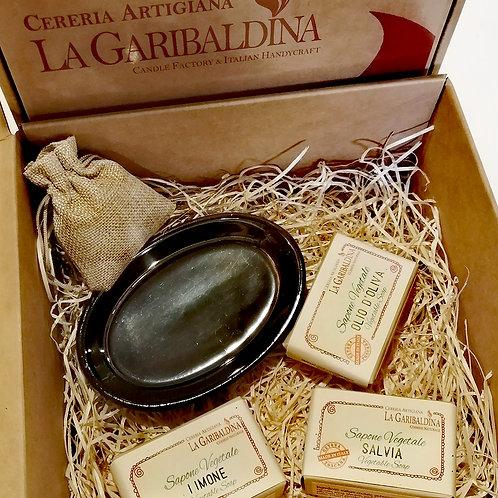 Gift Box - Confezione regalo Saponette e Porta sapone ovale