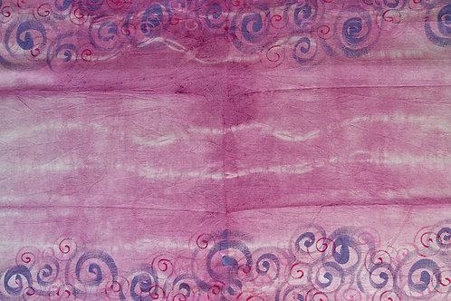 Runner di Cotone tinto e dipinto a mano