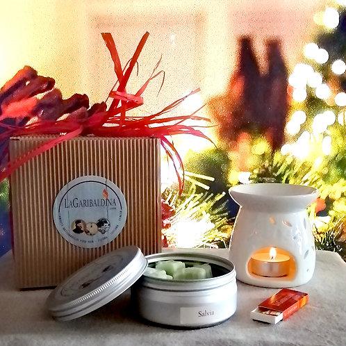 Gift Box Modello 3 - Bruciatore+Cialde di Soia