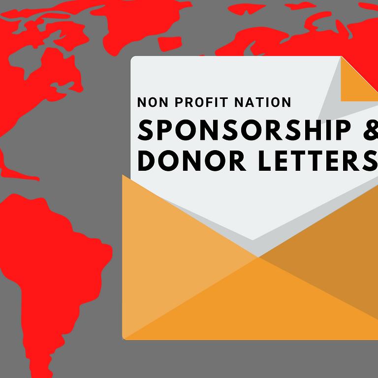 Non Profit Nation/ Sponsorship & Donor Letters