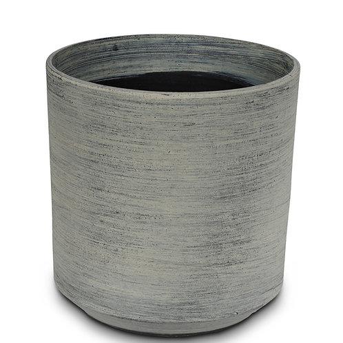 Topf Plastone Taber grau D28cm H28cm