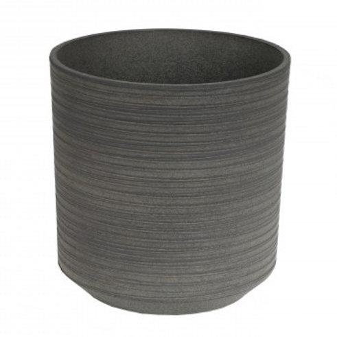 Topf Plastone Canmore grau D28cm H28cm