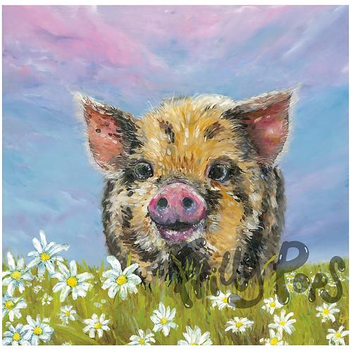 Miss Piggie Fine Giclée Print