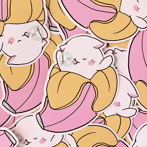 Baby Bananya Large Vinyl Sticker