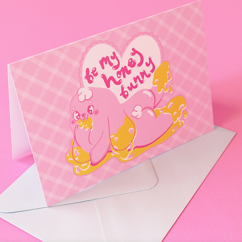 'Be My Honey Bunny' Greetings card