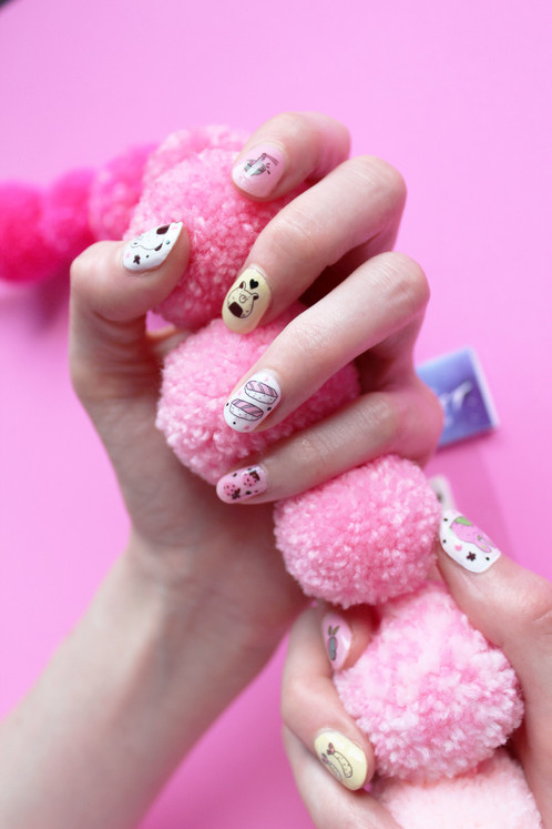 Japanese Snack Pack waterslide nail decals