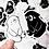 Thumbnail: Shirokuma Kurokuma Large Vinyl sticker
