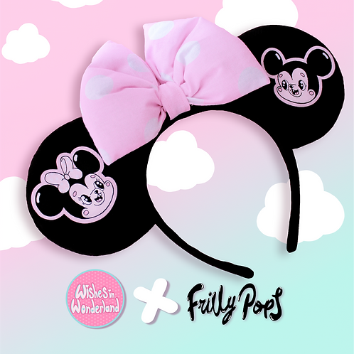 Wishes In Wonderland and Frilly Pops Collaboration Minnie Ears