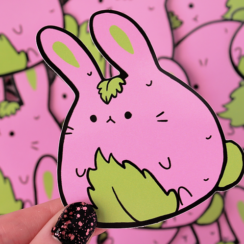 Sakura Mochi Bunny Large Vinyl Sticker