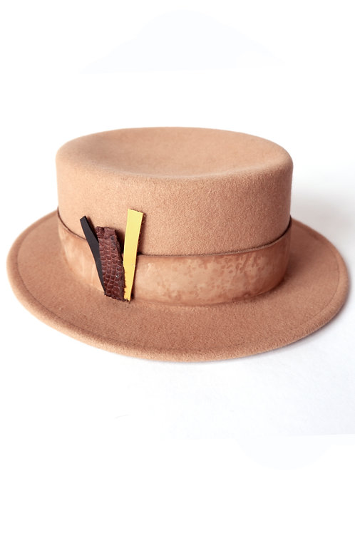 PORK PIE HAT CAMEL