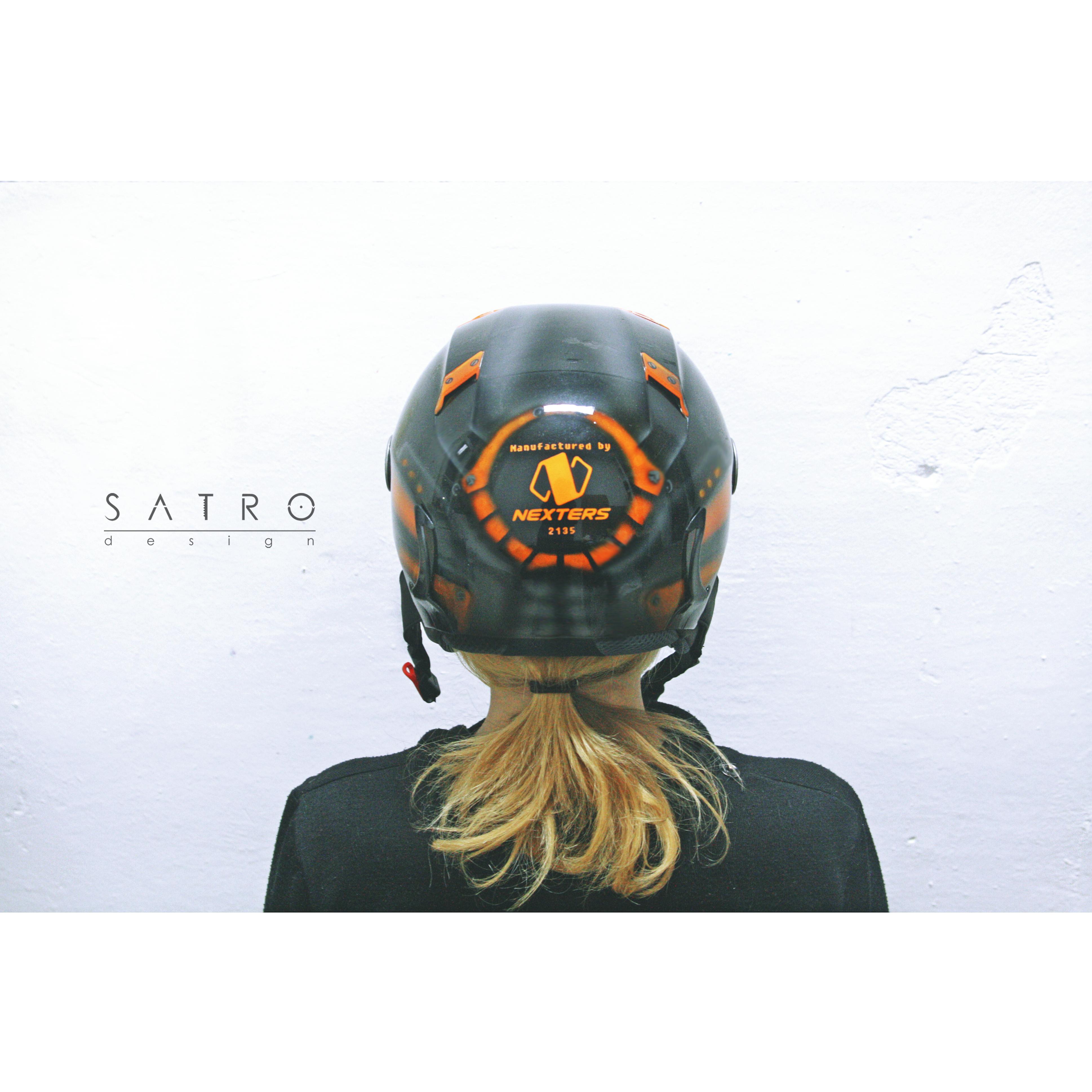 Шлем,Робот-Эксклюзив 2015 вид сзади