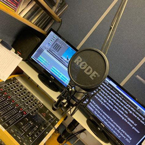 In the ears of people across the world from the studio in East Anglia.