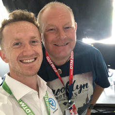 In the commentary box with good friend and racing driver Ricky Collard