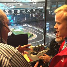 On air with then Formula 3 champion Felix Rosenqvist