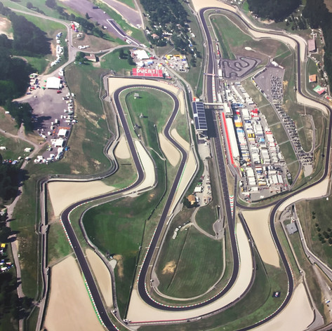 Mugello from the air is a sight to behold.