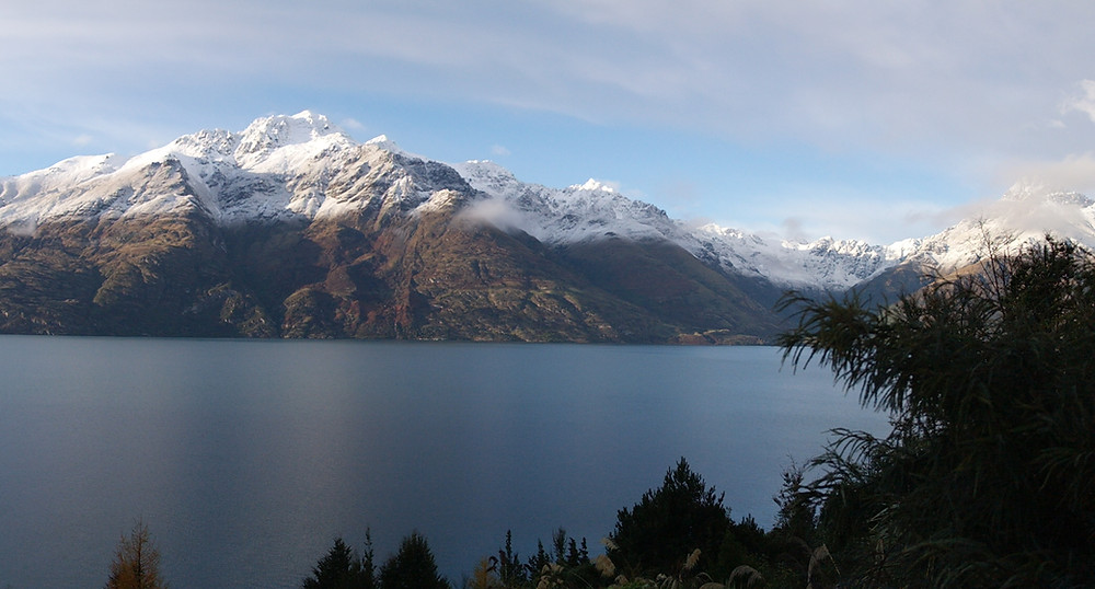 View from my room at Matakauri Lodge, Queenstown