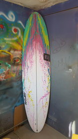 Surfboard Commission - other side