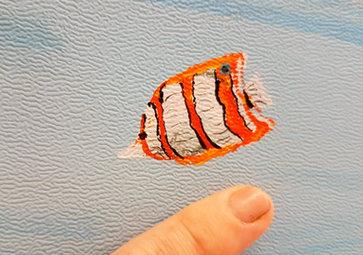 Tiny clown fish