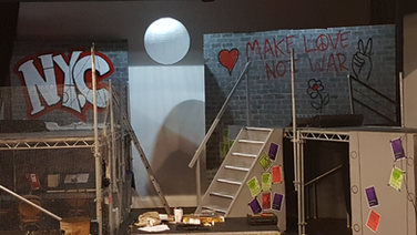 Set painting for The Playhouse Theatre