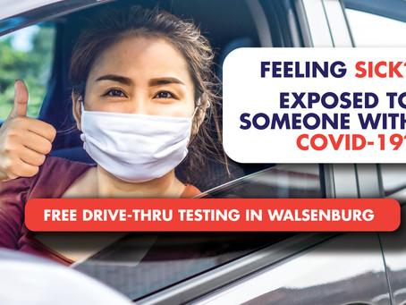 Free Drive-Thru COVID-19 Testing in Walsenburg This Week