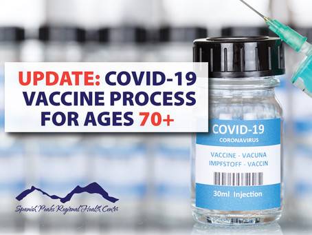 Vaccine Update: Now Available for Age 70+ Huerfano County Residents