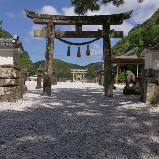 対馬 和多都美神社 の鳥居