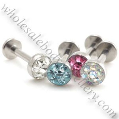 Multi Gem Disk Top Internal Labret 1.2mm