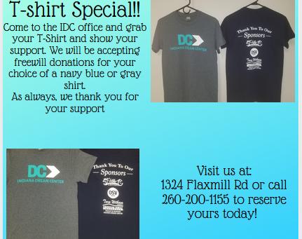 Indiana Dream Center T-shirt Special