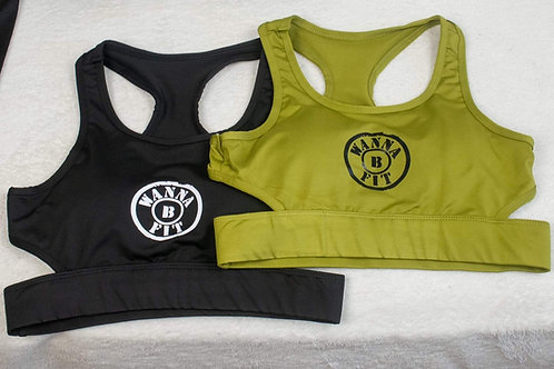 open back sports bra