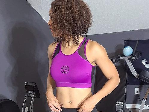 Net back sports bra
