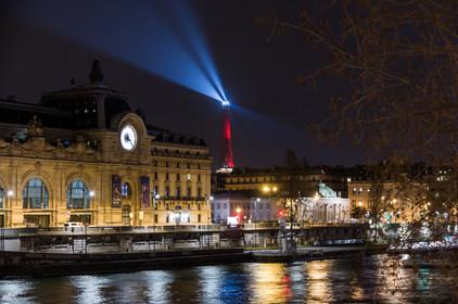 Musée d'Orsay et Tour Eiffel de nuit