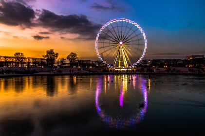 La roue de la Concorde depuis le Jardin des Tuileries