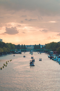 Canal de l'Ourcq au coucher de soleil