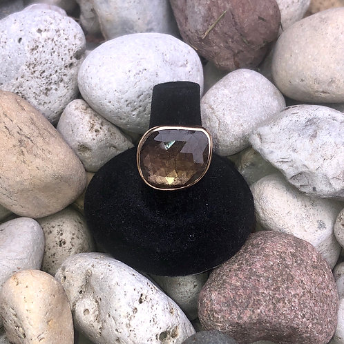 Golden Brown Sapphire Ring