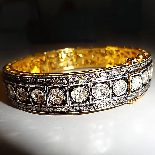 Traditional Polki Diamond Bracelet