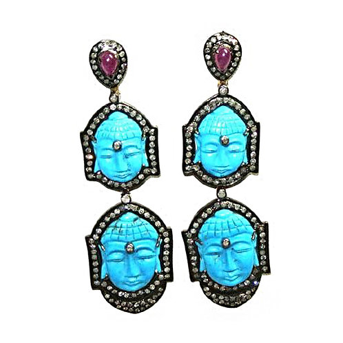 Double Buddha Earrings